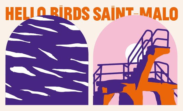Project visual Hello Birds Festival - Saint-Malo - Bretagne