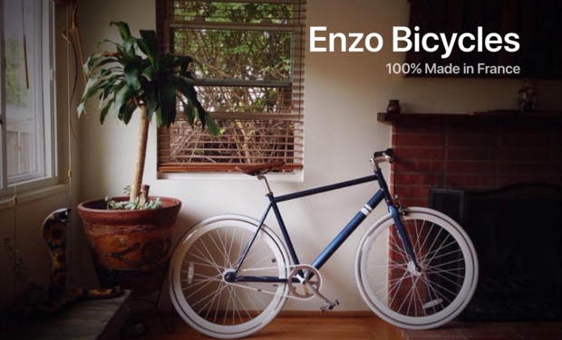 Project visual Enzo Bicycles: Vélo épuré et confortable 100% Made in France