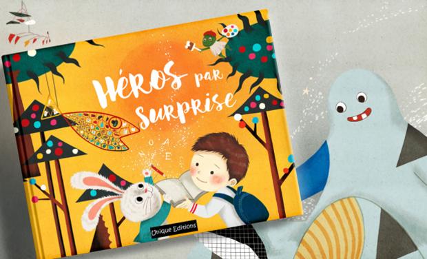 Visuel du projet Héros par surprise, un livre personnalisé dont votre enfant est le héros