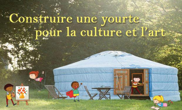 Visuel du projet Une yourte pour la créativité et le partage... !