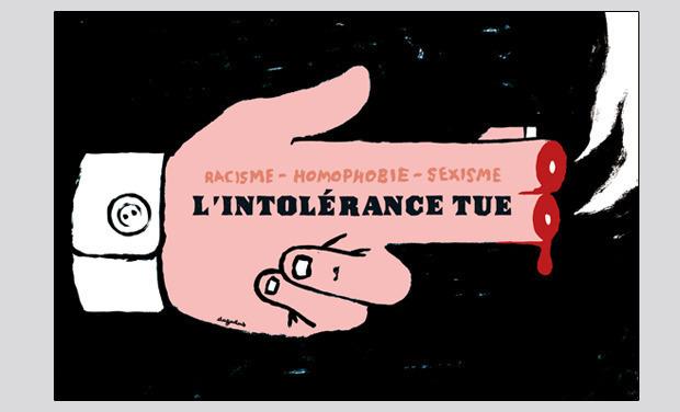 Visueel van project L'intolérance tue