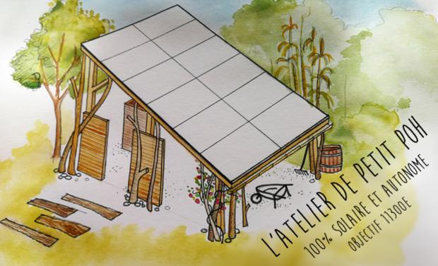 Visuel du projet Petit Poh atelier 100% autonome et solaire