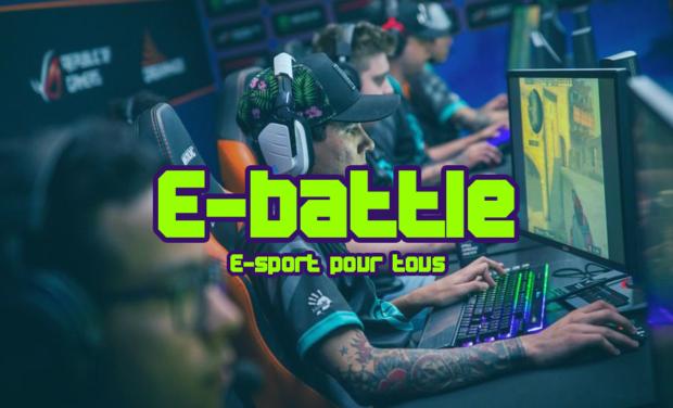 Visuel du projet E-Battle. Votre plateforme de tournois de jeux vidéo à dotation