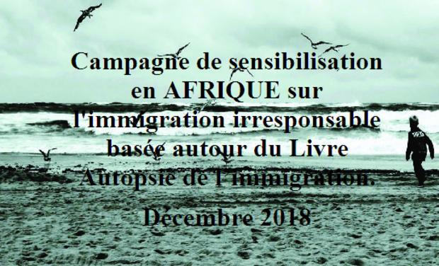 Visueel van project Edition du Livre Autopsie de l'immigration pour une campagne de sensibisation.
