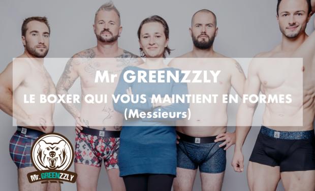 Project visual Mr GREENZZLY le boxer qui vous maintient en formes (Messieurs)
