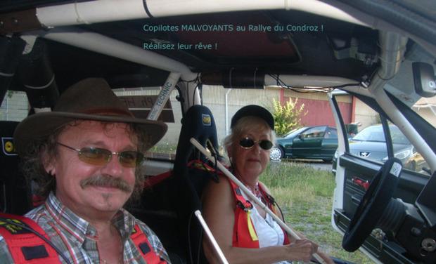 Visueel van project Des malvoyants au Rallye du Condroz !