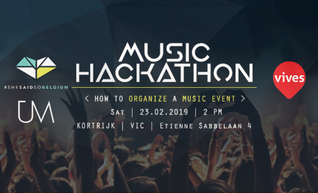 Visueel van project Music Hackathon