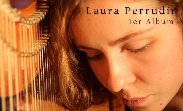 Visuel du projet Premier album de la harpiste et chanteuse Laura Perrudin