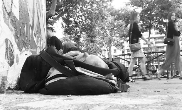 Project visual Sur le trottoir : à la rencontre des sans-abri parisiens