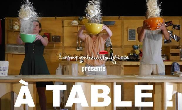 """Project visual Spectacle """"À Table !"""" / Cie du Lit qui Grince"""