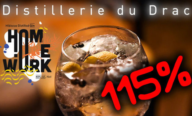 Project visual Homework : Le Gin de la Distillerie du Drac (Alpes)
