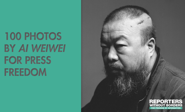 Project visual 100 photos de Ai Weiwei pour la liberté de la presse