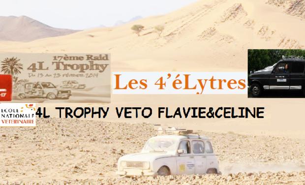 Visuel du projet 4L Trophy 2014 véto Flavie&Céline