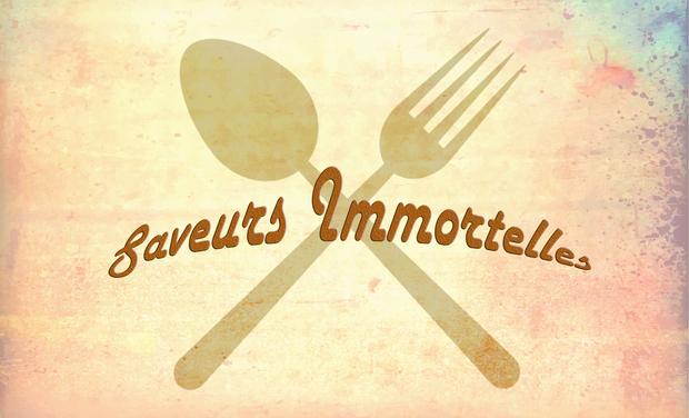 Visuel du projet Saveurs Immortelles: blog de cuisine