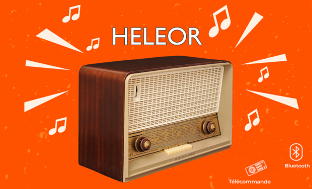 Project visual HELEOR radio vintage bluetooth