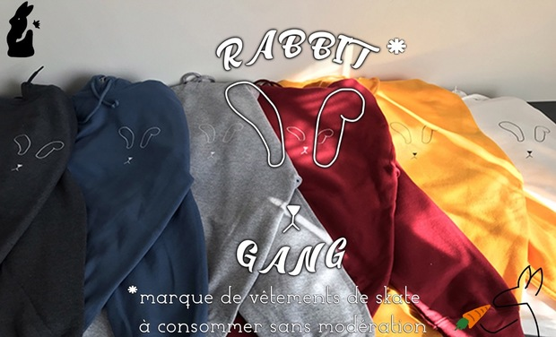Visuel du projet Le rabbit gang, LA marque de vêtements de skate !