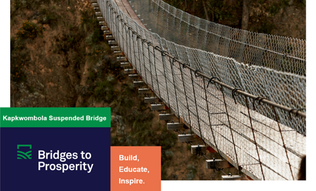 Visuel du projet Bridges to Prosperity - Kapkwombola Uganda 2019