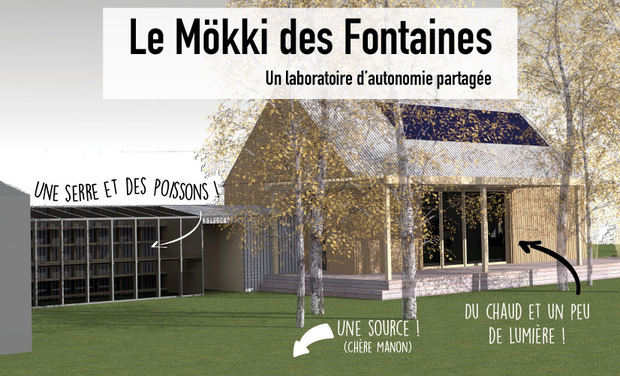 Visueel van project Le Mökki des Fontaines : a laboratory of shared autonomy