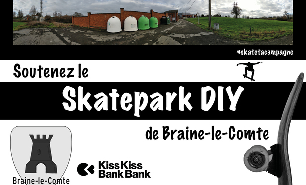 Visuel du projet Financez un skatepark DIY belge