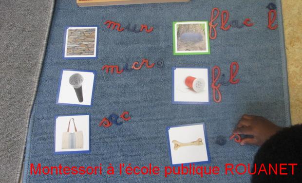 Visuel du projet Montessori à l'école maternelle publique ROUANET