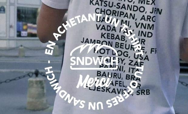 Visuel du projet SNDWCH : En achetant un T-Shirt, tu offres un Sandwich !