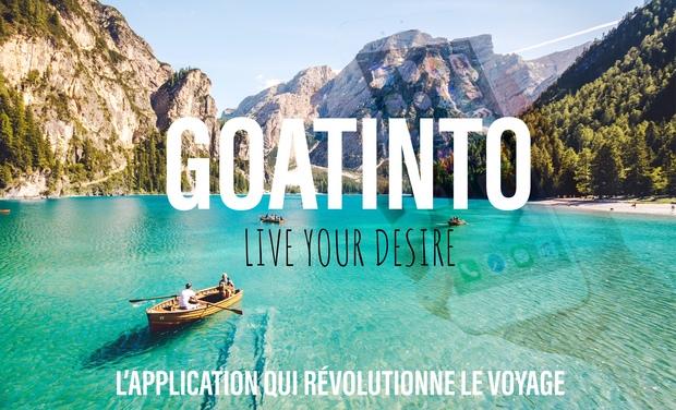 Project visual Goatinto, l'appli de voyage révolutionnaire !
