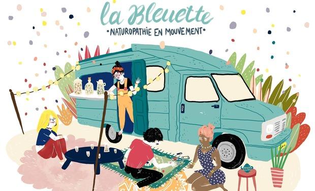 Project visual La Bleuette : l'herboristerie Ambulante