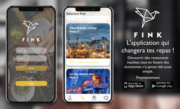 Project visual Fink, trouve des restaurants insolites et fais des économies en quelques clics !