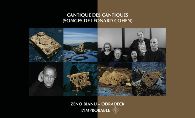 Visuel du projet Cantique des cantiques, Songes de Leonard Cohen, Zeno Bianu et Odradeck