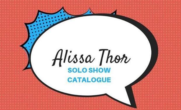 Project visual Catalogue peinture Alissa Thor 2019