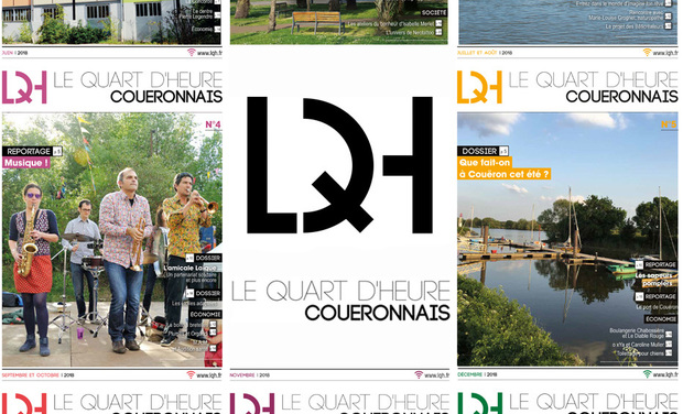 Project visual Le Quart d'heure couëronnais, l'information locale positive