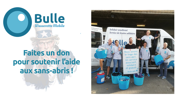Project visual Bulle, la wasserette mobile