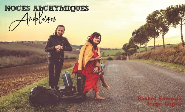 """Visueel van project Duo Rachël Esmoris & Serge Lopez Album """"Noces Alchymiques Andalouses"""""""