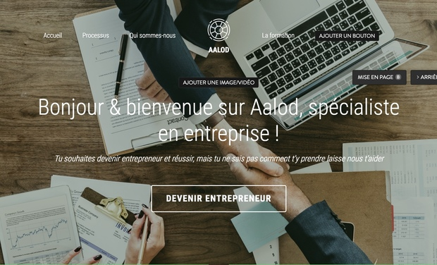 Visueel van project AALOD, Formation création d'entreprise