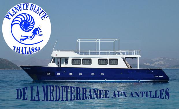 Visuel du projet Planète Bleue Thalassa. De la Méditerranée aux Antilles.