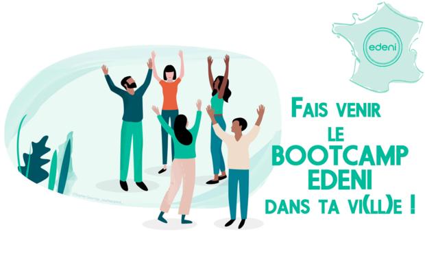 Project visual Le bootcamp Edeni dans toute la France