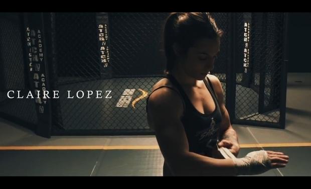 Visuel du projet Claire Lopez, combattante française de MMA