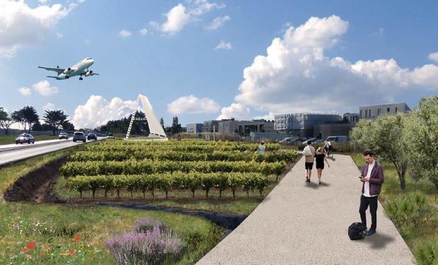 Project visual Le A de l'aéroport de Montpellier. Transmission Savoir et innovation