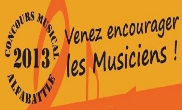 Visueel van project Concours musical ALFABATTLE 2013