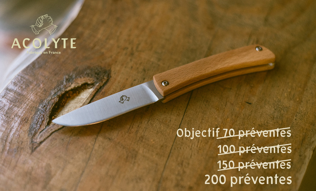 Project visual Acolyte, le couteau de poche à fabriquer et à assembler soi-même