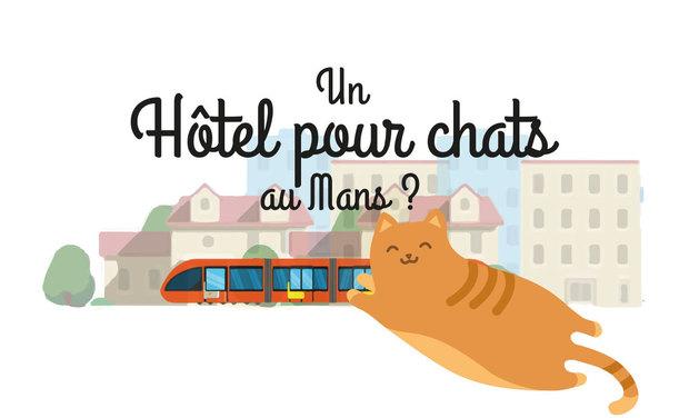 Visuel du projet Un hôtel pour chats au Mans