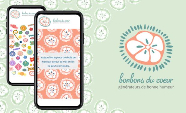 Visuel du projet bonbons du cœur, générateurs de bonne humeur