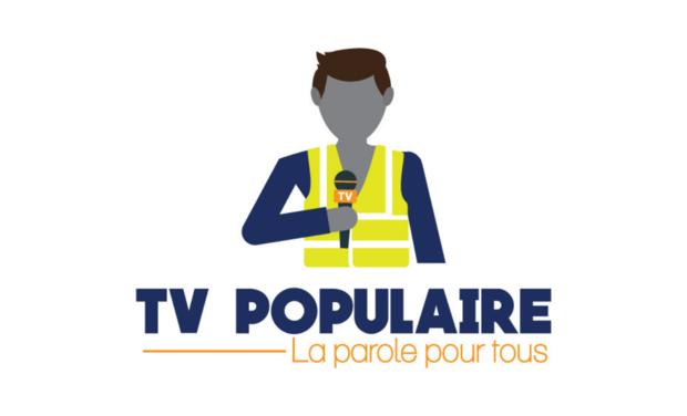Visueel van project TV Populaire, Web TV d'information indépendante et transcourant