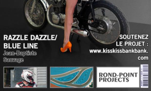 Visuel du projet Razzle-Dazzle / Blue Line, livre de JB Sauvage