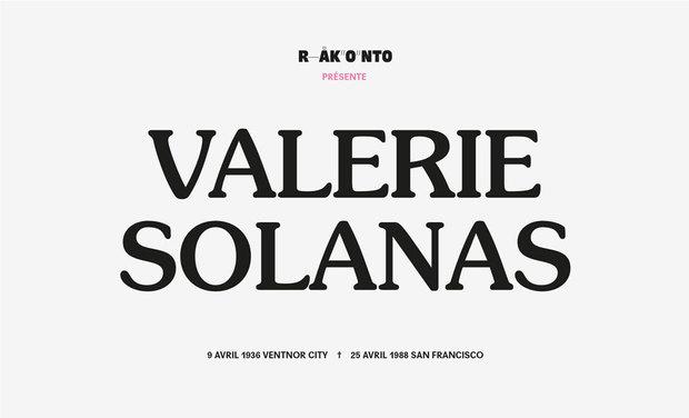 Project visual Scum is fun (documentaire sonore autour de Valerie Solanas)