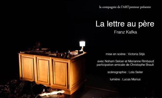 """Visueel van project """"La lettre au père"""" de Franz Kafka au Théâtre Gerard Philippe (TGP)"""