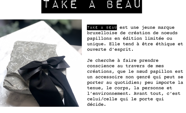 Visuel du projet Aidez TAKE A BEAU à développer sa boutique en ligne !