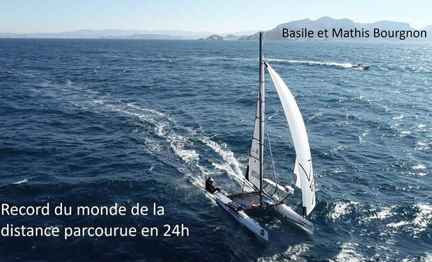 Project visual 24-HOUR WORLD RECORD UNDER SAIL - Basile et Mathis Bourgnon