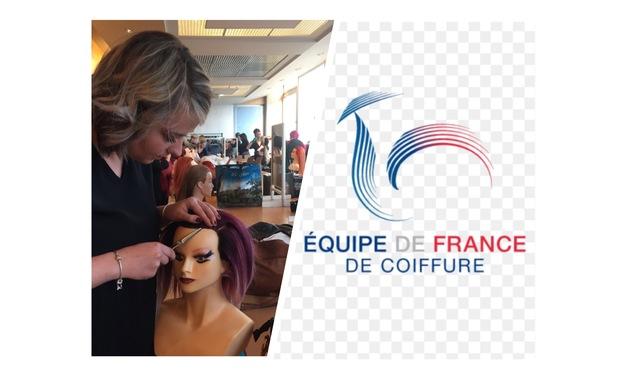 Project visual Préparions des compétitions internationales avec l'equipe De France de Coiffure