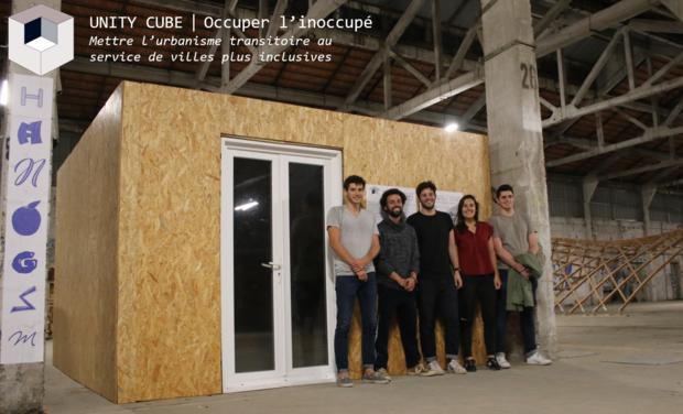 Project visual UNITY CUBE - Solution d'hébergement d'urgence dans les bâtiments inoccupés